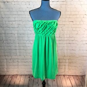 OP Lime green Ruffles Halter Dress